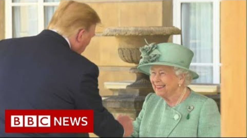 Trump meets the Queen at Buckingham Palace - BBC News