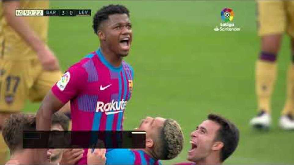Sintesi della partita tra Barcellona e Levante (3-0)