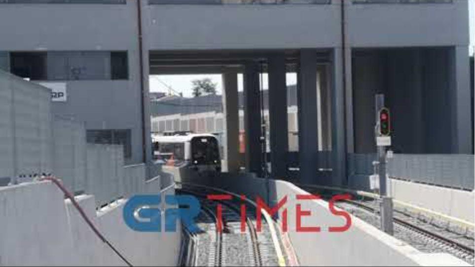 Το μέτρο Θεσσαλονίκης σε κίνηση για πρώτη φορά