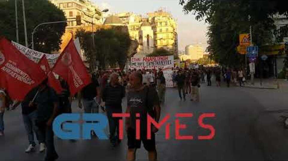 Πορεία Εργατικών Σωματείων, εκπαιδευτικών και αντιεξουσιαστων στην Καμάρα για τη ΔΕΘ