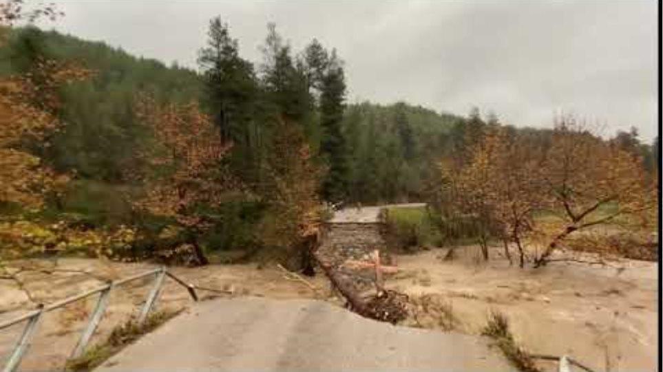 EviaZoom.gr - Βόρεια Εύβοια: Γέφυρα στο Αρτεμίσιο κατέρρευσε σαν χάρτινος πύργος