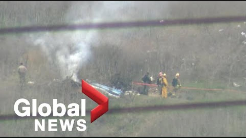Kobe Bryant death: scene of helicopter crash that killed the former basketball star and others
