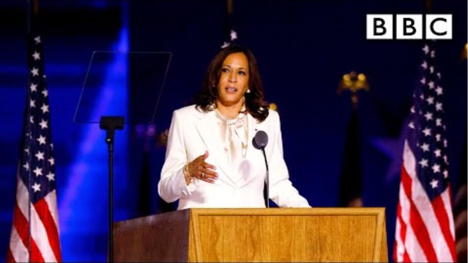 Kamala Harris speech • What this moment means for women 🇺🇸 US Election 🔴 @BBC News live - BBC