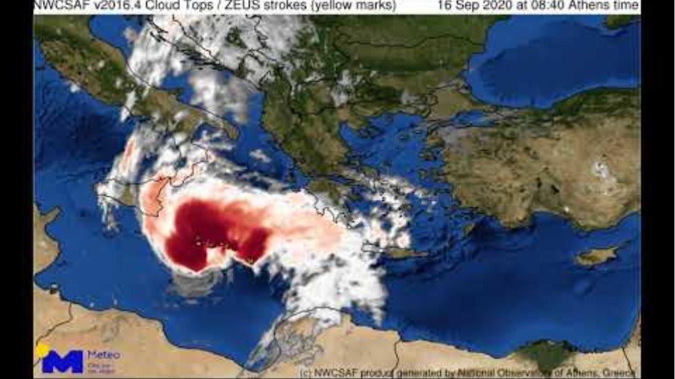 Meteo.gr: Ο στροβιλισμός του ΙΑΝΟΥ στην Κεντρική Μεσόγειο την Τετάρτη 16 Σεπτεμβρίου 2020