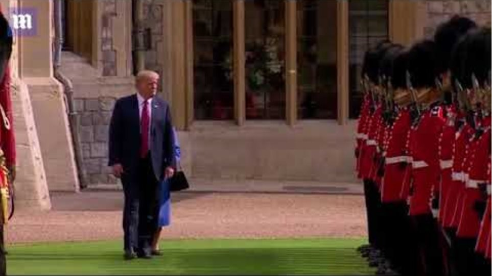 Trump Breaks Protocol Twice after failing to bow and walking in front of Queen
