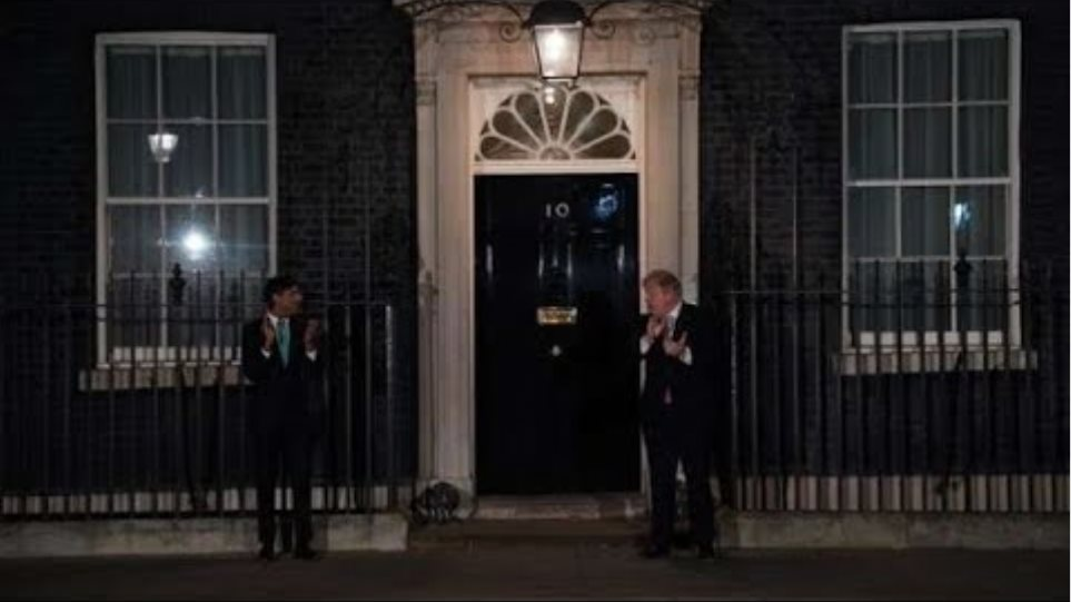 UK Prime Minister: Boris Johnson Claps For NHS Workers - Watch In Full