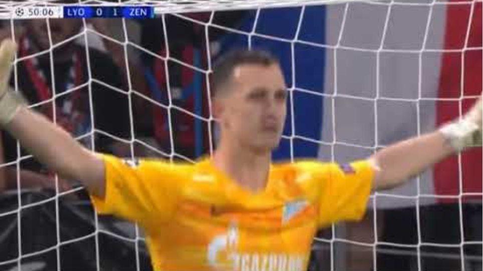 Depay Goal - Lyon vs Zenit St Petersburg 1-1