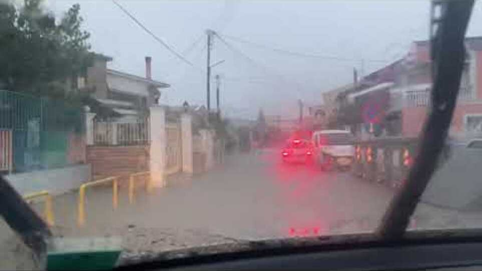 Κέρκυρα - κακοκαιρία: Πλημμύρα στον Ποταμό
