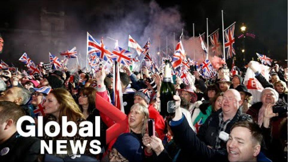 Brexit: People celebrate in London, U.K. as hour strikes marking departure from European Union