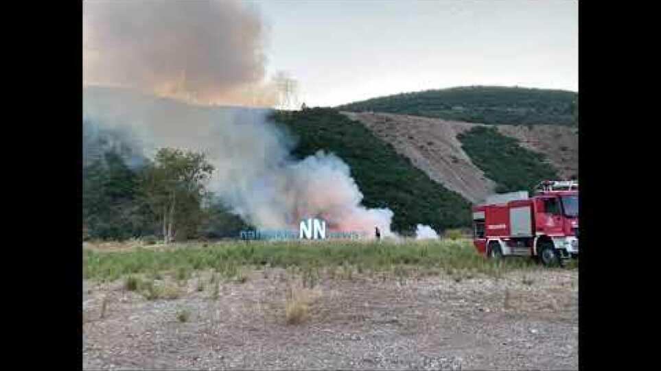 Ναύπακτος: Πυρκαγιά ξέσπασε στο Σκά κοντά στο ΚΤΕΛ Αιτ/νιας