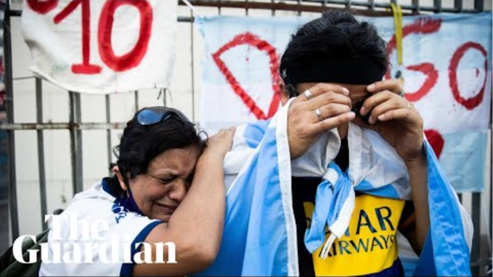 Fans in Argentina and Naples mourn death of Diego Maradona