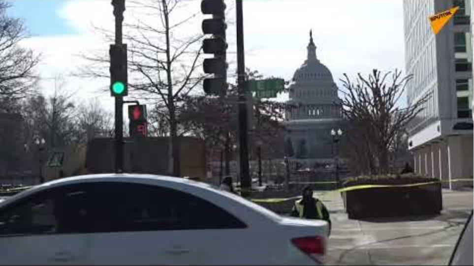Views of Washington DC Before Rehearsal for Biden's Inauguration