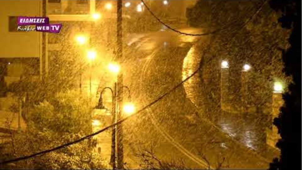 Πρώτο χιόνι στο Κιλκίς, Πέμπτη 14 Ιανουαρίου 2021 - Eidisis.gr webTV