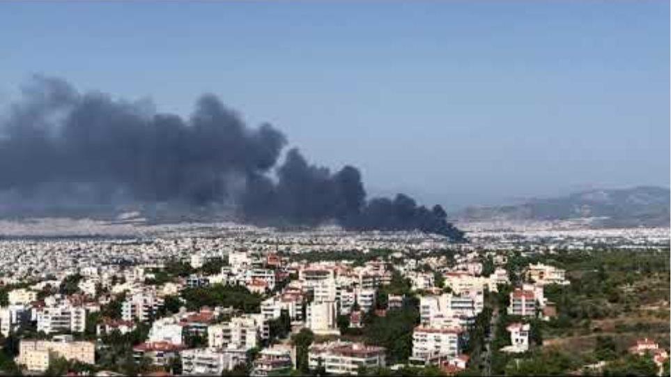 Μεγάλη φωτιά στη Μεταμόρφωση - Κλειστή η Αθηνών-Λαμίας 3