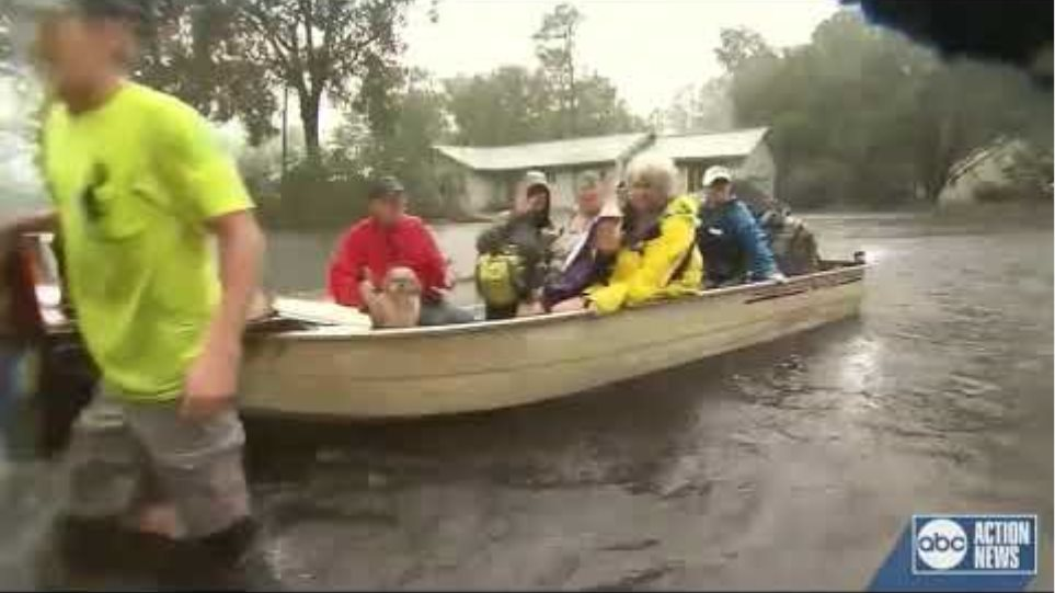 Early flooding from Hurricane Florence
