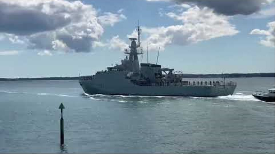 HMS Trent sails from Portsmouth to be forward-deployed in the Mediterranean