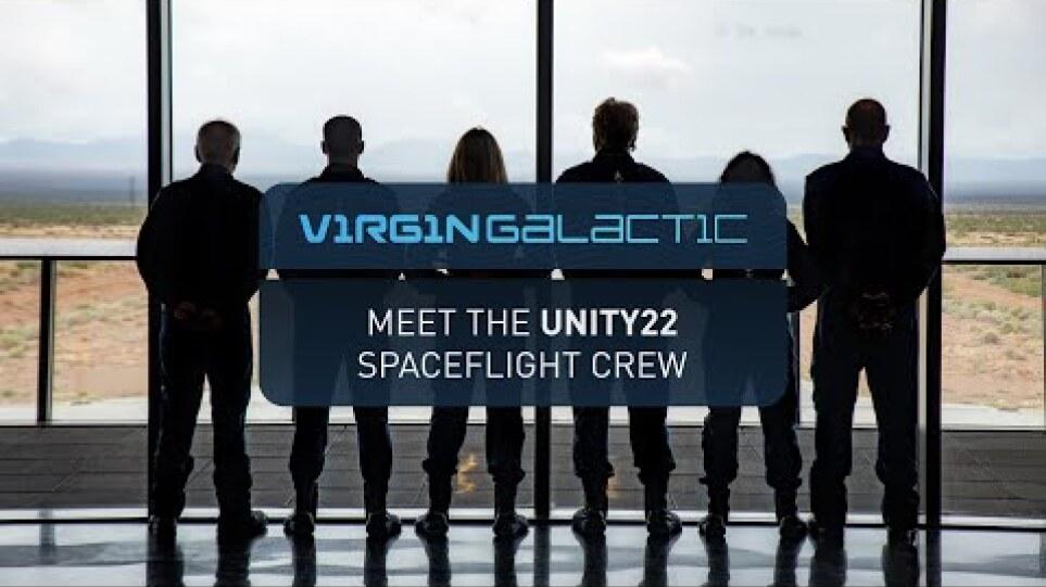 Introducing Virgin Galactic Unity 22 Crew