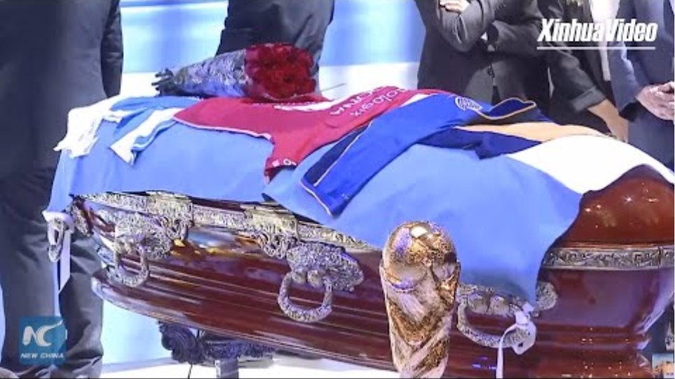 Argentina bids farewell to Maradona