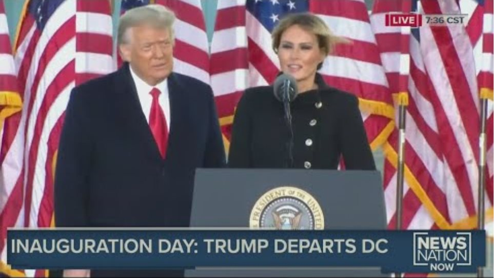 Melania Trump delivers farewell remarks after leaving White House