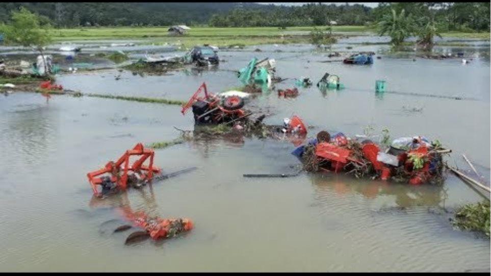 Aerial Shot Reveals Devastations Caused by Indonesian Tsunami