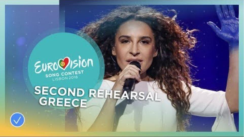 Yianna Terzi - Oniro Mou - Exclusive Rehearsal Clip - Greece - Eurovision 2018