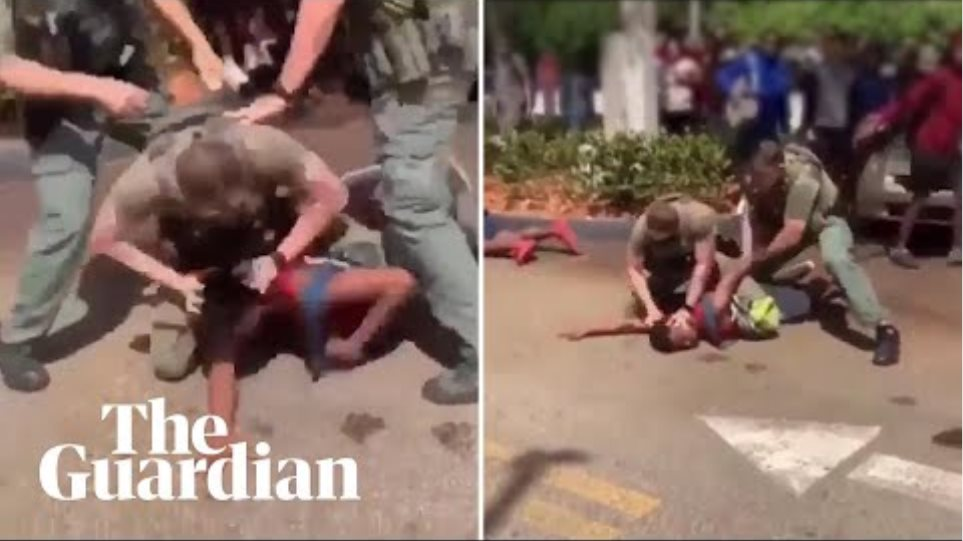 Police officers pepper-spray and punch black teenager, 15, in Florida