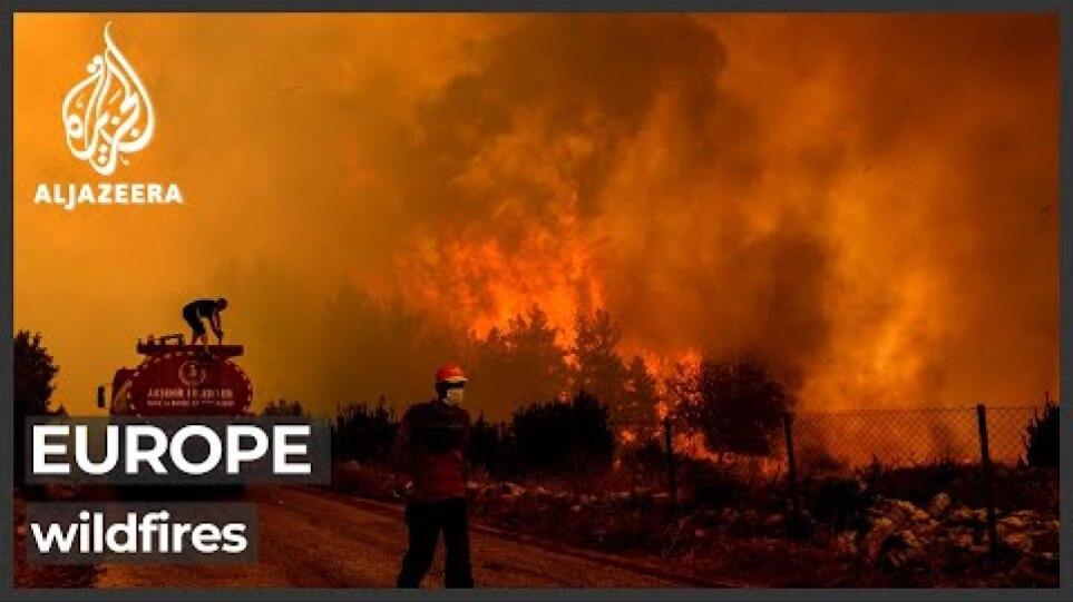 Wildfires cause further devastation in Turkey, Greece