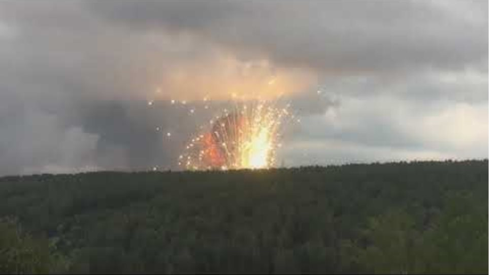 Explosions in ammunition depots in Russia
