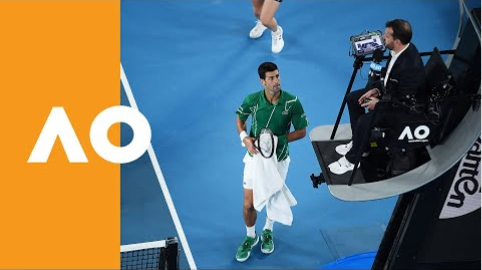 Novak Djokovic puts the umpire on the back foot | Australian Open 2020 Final