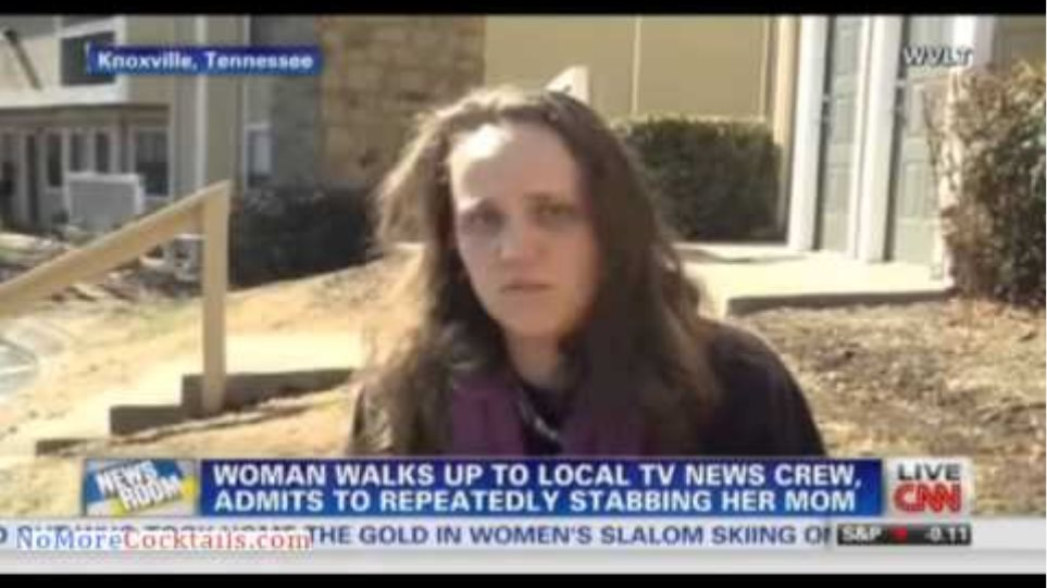 Woman walks up to news crews & admits stabbing her mom because she was the anti-Christ