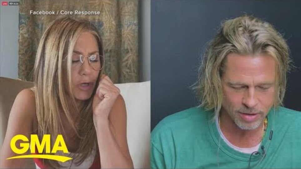 Jennifer Aniston and Brad Pitt reunite for 'Fast Times at Ridgemont High' table read l GMA