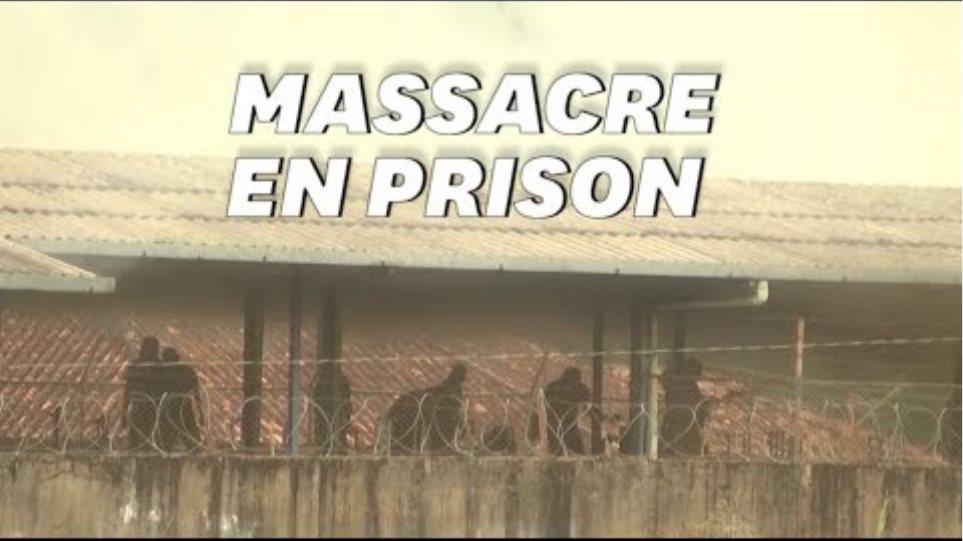 Les images terribles de la mutinerie qui a fait au moins 57 morts au Brésil