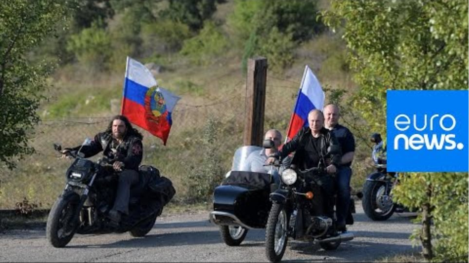 What protests? Putin rides with Night Wolves bikers in Crimea
