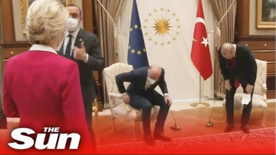 Ursula von der Leyen 'snubbed' in chair gaffe on EU trip to Turkey