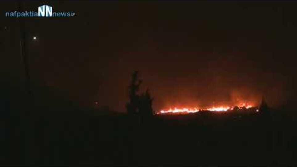Απευθείας σύνδεση οι φλόγες πλησιάζουν την Τολοφώνα Δωρίδας