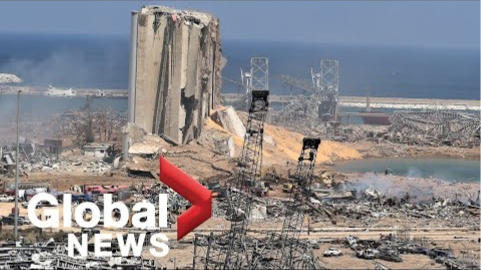 Beirut explosion: Lebanon's president Michel Aoun visits devastated port area