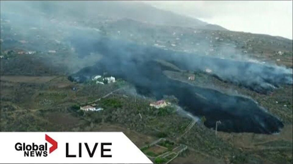 La Palma volcano eruption: Footage shows lava damage across Spain's island | LIVE
