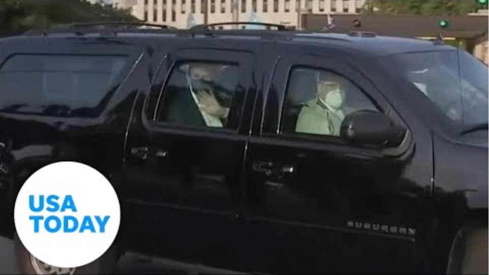 Trump leaves hospital for surprise visit | USA TODAY