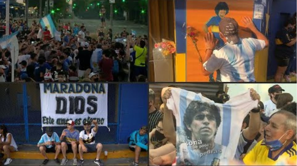 Football fans mourn Maradona | AFP