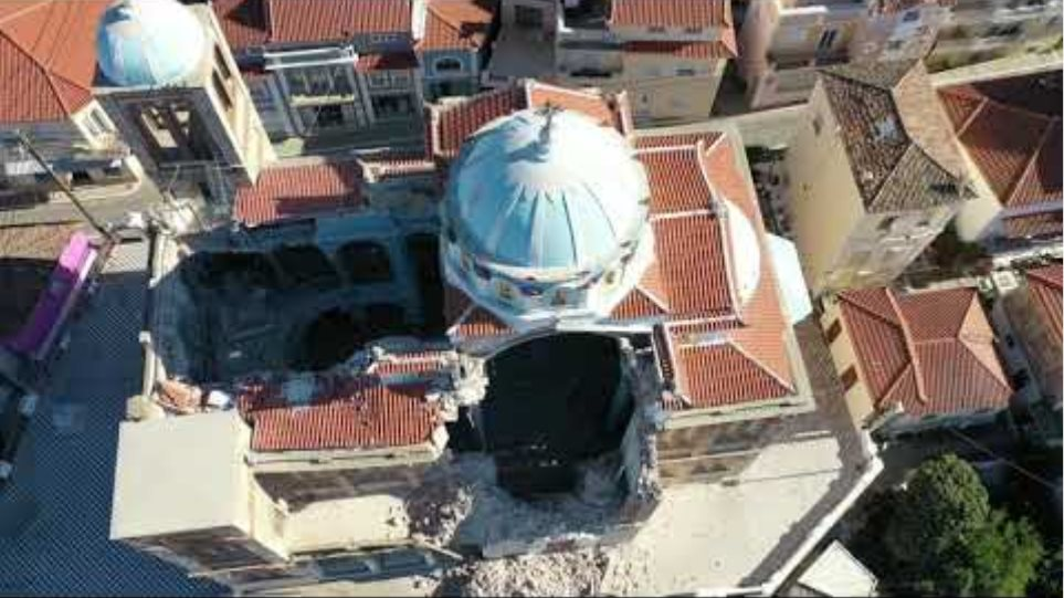 after the earthquake at samos 1-11-2020