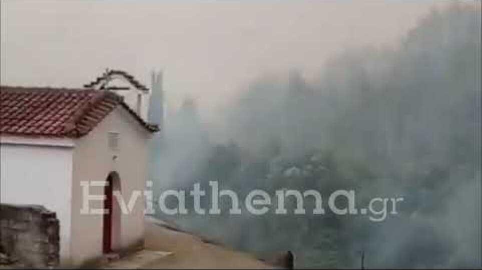 Eviathema.gr - Θαύμα έσωσε την μονή του Οσίου Δαυίδ στην Εύβοια από την Φωτιά
