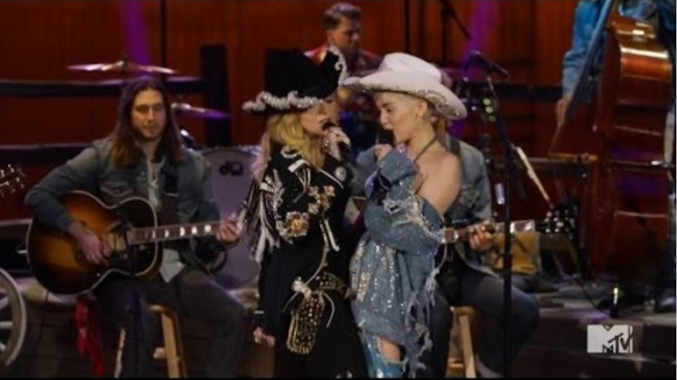 Madonna Joins Miley Cyrus for Unplugged MTV Performance