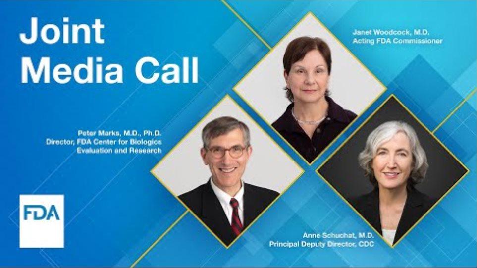 Joint Media Call: FDA & CDC to Discuss Janssen COVID-19 Vaccine - 4/13/2021