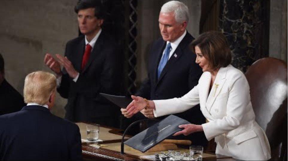 Trump snubs Pelosi handshake