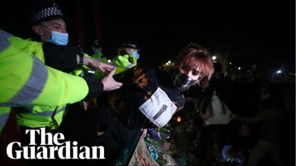 Arrests as police and crowd clash at Sarah Everard vigil in Clapham