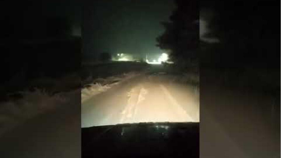 Ευβοια: Χιονια στην Κερασια