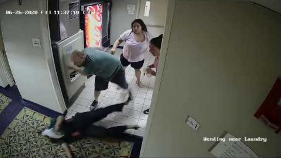 Security camera footage shows racially motivated attack at Mystic hotel