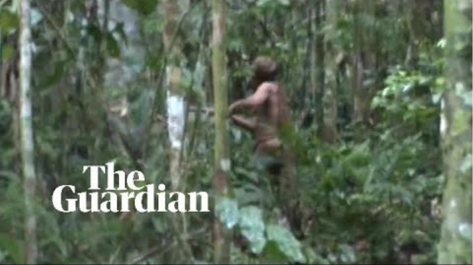 'Man of the hole': fresh footage released of last survivor of Brazilian Amazon tribe