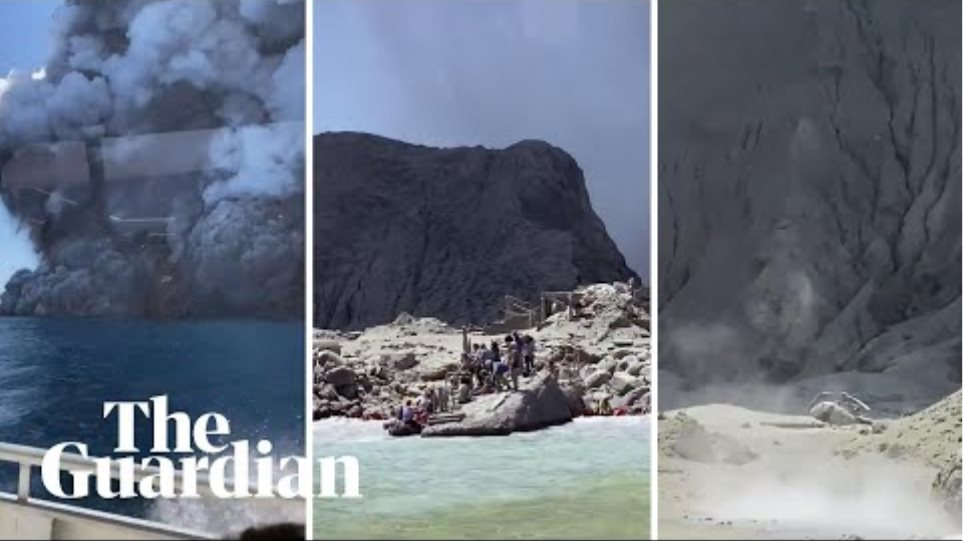 New Zealand eruption: tourists stranded on White Island after volcano blows