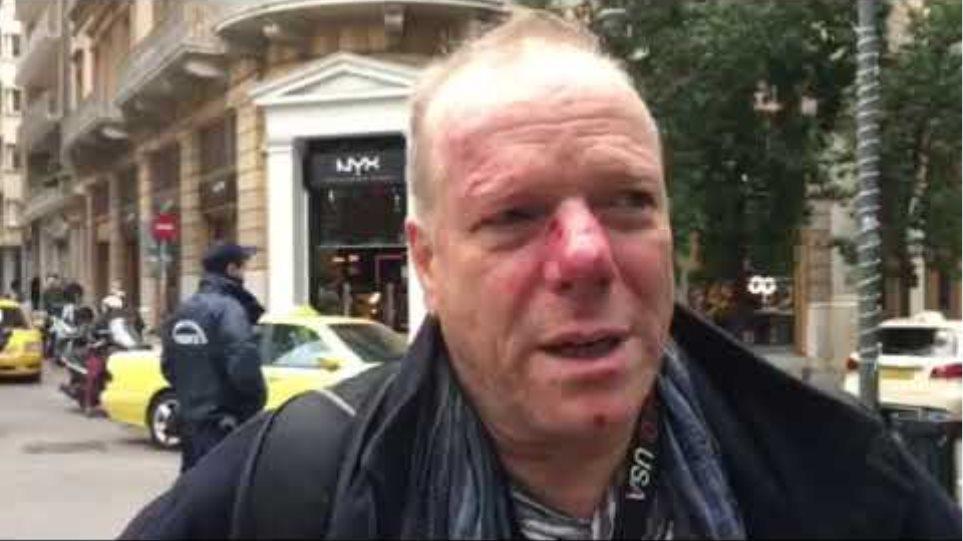 Θωμάς Γιακόμπι θύμα ξυλοδαρμού στο συλλαλητήριο